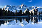 Sorapis Mountain Reflecting in Antorno Lake, Dolomites, Italy