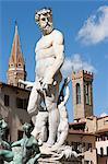 Fontaine de Neptune à la Piazza della Signoria, Florence, Italie
