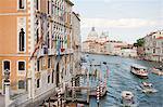 Bateaux sur le Grand Canal, Venise, Italie