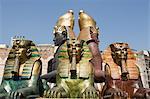 Statues pour le festival d'opéra de l'arène de Vérone, Italie
