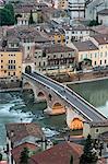 Ponte Pietra und Etsch, Verona, Italien