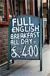 Full English breakfast sign