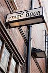 Stage door of West End theatre, London