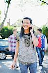 Teenage girl talking on cell phone