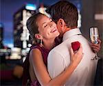 Man proposing engagement to girlfriend
