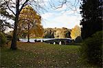 Stourhead in Autumn, Wiltshire, England