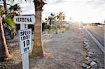 Speed Limit Traffic Sign in RV Park, Yuma, Arizona, USA
