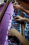 Girls Weaving, Bagan, Mandalay Division, Myanmar