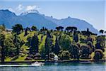 Les jardins de la Villa Melzi, Bellagio, lac de Côme, Lombardie, Italie