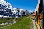 Rad-Zahnradbahn auf der kleinen Scheidegg, Jungfrauregion, Berner Alpen, Schweiz