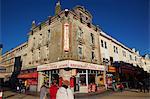 Restaurant et scène de rue, Weston-super-Mare, Somerset, Angleterre