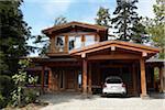 Exterior of House, Tofino, Vancouver Island, British Columbia, Canada
