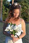 Porträt der Braut, Maui, Hawaii, USA
