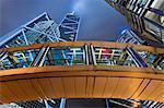 Couverte Walkway, Financial District, Hong Kong, Chine