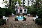 Rose Pavillion Courtyard, Musée de la vallée de Shenandoah, à Winchester, Virginie, Etats-Unis