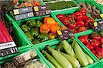 Pflanzliche Abschnitt eines Supermarktes