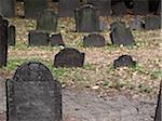 Grabsteine in ein Alter Friedhof