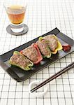 Meat stuffed bell pepper