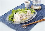 Boiled pork salad