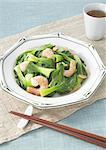 Stir fried shrimp and bok choy