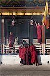 Scene from the Tamshingphala in Bumthang, Bhutan