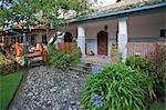 Ecuador, Hacienda Cusin, a restored C17th Andean homestead, now a small boutique hotel, Otavalo.