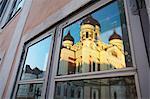 Estonie, Tallinn, Toompea, reflet de la cathédrale Alexandre Nevski