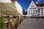 Estonia, Tallinn, Outdoor Cafes In Town Hall Square (Raekoja Plats)