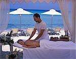 Massage on the beach,Bousolos Beach