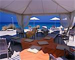 Beach bar on Boussolos Beach