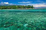 Indonesia,Sulawesi,Banggai Islands. Small resort on Sago Atoll.