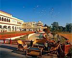 Rambagh Palace Hotel,Jaipur,previously the home of the Maharajah of Jaipur.