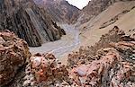 The mountain trail to Stok Kangri, Ladakh, North West India