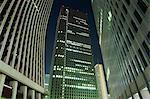 Gratte-ciels de Shinjuku et bâtiments de la ville pendant la nuit