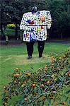 Japan,Honshu Island,Kanagawa Prefecture,Fuji Hakone National Park,Chokokunomori Scultpure Park. Miss Black Power 1968 by Niki De Saint Phalle (1930-2002).