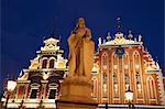 House of Blackheads in Town Hall Square (Ratslaukums), Riga, Latvia