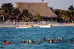 Playa del Carmen, Mexico. Snorkeling in the Caribbean near Play del Carmen