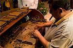 Playa del Carmen, Mexico. Making cigars at a cigar shop in Play del Carmen mexico