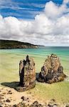 Sea stacks on Garry beach, Isle of Lewis, Hebrides, Scotland, UK