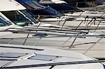 Yachts detail in Puerto Banus, Marbella. Andalusia, Spain