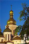 St Sophia's Cathedral at dusk, Kiev, Ukraine
