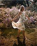 Woman in Garden, High Park, Toronto, Ontario, Canada