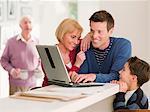 L'utilisation conjointe de portable de famille