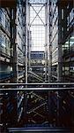 Lloyd's Building, City of London, 1986. Full height atrium shot. Combining shots 390 & 400. Architects: Richard Rogers