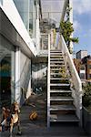 Roof Garden Apartment, London. Architects: Tonkin Liu with Richard Rogers
