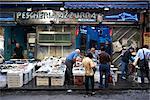 Marché au poisson décrochage, Naples.