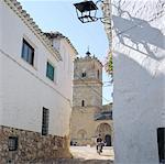 Castilla-La Mancha, streetscene in El Toboso, home to Dulcinea in Cervantes' book Don Quijote.