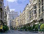 Résidentiels de Madrid, Gran Via, du XIXe siècle.