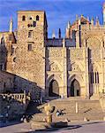 Extremadura, Guadelupe, 15th century cathedral and Monasterio de Santa Maria de Guadelupe.