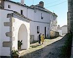 Extremadura, Caceres, alley in the old Jewish San Antonio quarter.